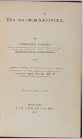 Books:Americana & American History, [Americana]. Thomas Nast [illustrator]. Petroleum V. Nasby.Ekkoes from Kentucky. Boston: Lee and Shepard, 1868. Pub...