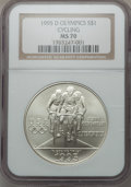 Modern Issues: , 1995-D $1 Olympic/Cycling Silver Dollar MS70 NGC. NGC Census:(229). PCGS Population (156). Numismedia Wsl. Price for prob...