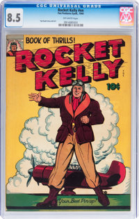 Rocket Kelly nn (Fox Features Syndicate, 1944) CGC VF+ 8.5 Off-white pages