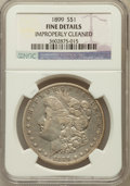 Morgan Dollars: , 1899 $1 -- Improperly Cleaned -- NGC Details. Fine. NGC Census:(13/8451). PCGS Population (16/11235). Mintage: 330,846...