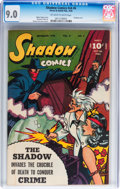 Golden Age (1938-1955):Crime, Shadow Comics V6#6 (Street & Smith, 1946) CGC VF/NM 9.0 Off-white to white pages....