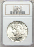 Peace Dollars: , 1922 $1 MS65 NGC. NGC Census: (14382/1468). PCGS Population(5771/624). Mintage: 51,737,000. Numismedia Wsl. Price for prob...