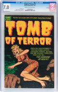 Golden Age (1938-1955):Horror, Tomb of Terror #7 File Copy (Harvey, 1953) CGC FN/VF 7.0 Cream tooff-white pages....