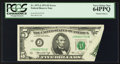 Error Notes:Foldovers, Fr. 1973-J $5 1974 Federal Reserve Note. PCGS Very Choice New64PPQ.. ...