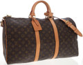 Luxury Accessories:Accessories, Louis Vuitton Classic Monogram Canvas Bandouliere Keepall 50 Weekender Overnight Bag with Shoulder Strap. ...