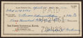 Baseball Collectibles:Others, 1961 Mickey Cochrane Signed Check....