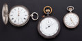 Timepieces:Pocket (post 1900), One Stop Watch One Fusee & One William Gibbons Runners. ...(Total: 3 Items)