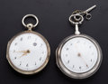 Timepieces:Pocket (post 1900), Swiss & London Verge Fusee Pocket Watches Runners. ... (Total: 2 Items)