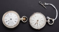 Timepieces:Pocket (pre 1900) , Swiss Chronometer & Waltham Pocket Watches Runners. ... (Total:2 Items)