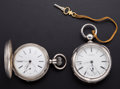 Timepieces:Pocket (post 1900), Swiss Chronometer & Rockford Key Wind Pocket Watches . ... (Total: 2 Items)