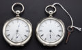 Timepieces:Pocket (pre 1900) , Rare Home Watch Co. & Waltham Key Wind Pocket Watches. ...(Total: 2 Items)