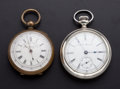 Timepieces:Pocket (post 1900), Swiss Chronometer & Auora Pocket Watches. ... (Total: 2 Items)