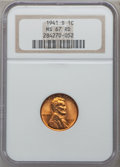 Lincoln Cents: , 1941-S 1C MS67 Red NGC. NGC Census: (981/0). PCGS Population(200/0). Mintage: 92,360,000. Numismedia Wsl. Price for proble...