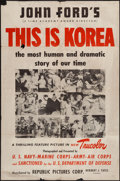 "Movie Posters:Documentary, This is Korea (Republic, 1951). One Sheet (27"" X 41""). Documentary.. ..."