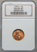 Lincoln Cents: , 1940 1C MS67 Red NGC. NGC Census: (557/0). PCGS Population (197/4).Mintage: 586,825,856. Numismedia Wsl. Price for problem...