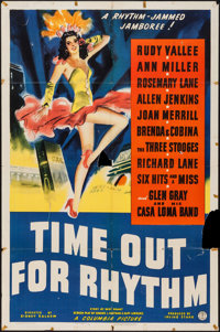 """Time Out for Rhythm and Other Lot (Columbia, 1941). One Sheet (27"""" X 41""""), and Lobby Cards (3) (11"""" X 14&..."""