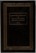 Books:Biography & Memoir, Abraham Lincoln. FACSIMILE. Handwritten Autobiography for theChicago Press and Tribune. Easton Press, 1995. Rep...