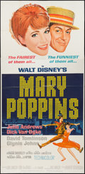"Movie Posters:Fantasy, Mary Poppins (Buena Vista, 1964). Three Sheet (41"" X 83"").Fantasy.. ..."