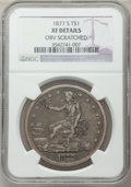 Trade Dollars: , 1877-S T$1 -- Obv Scratched -- NGC Details. XF. NGC Census:(38/1101). PCGS Population (88/1519). Mintage: 9,519,000. Numis...