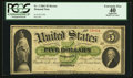 Large Size:Demand Notes, Fr. 3 $5 1861 Demand Note PCGS Apparent Extremely Fine 40.. ...