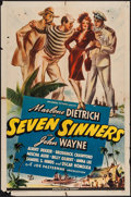 "Movie Posters:Adventure, Seven Sinners (Universal, 1940). One Sheet (27"" X 41""). Adventure....."