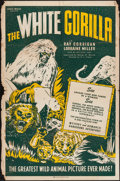 "Movie Posters:Adventure, The White Gorilla (Louis Weiss, 1945). One Sheet (28"" X 42"").Adventure.. ..."