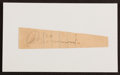 Baseball Collectibles:Others, Al Simmons Signed Cut Signature. ...
