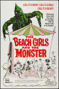 """The Beach Girls and the Monster (U.S. Films Inc., 1965). One Sheet (27"""" X 41""""). Horror"""