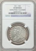 Bust Half Dollars: , 1811 50C Large 8 -- Improperly Cleaned -- NGC Details. XF. NGCCensus: (30/780). PCGS Population (26/291). Mintage: 1,203,6...