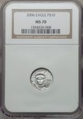 Modern Bullion Coins, 2006 $10 Tenth-Ounce Platinum Eagle MS70 NGC. NGC Census: (0). PCGSPopulation (116)....
