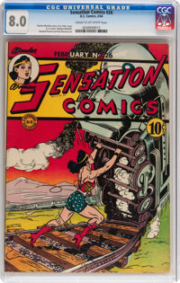 Sensation Comics #26 (DC, 1944) CGC VF 8.0 Cream to off-white pages