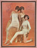 Music Memorabilia:Autographs and Signed Items, The Supremes Signed Concert Tour Program (1967)....
