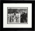Music Memorabilia:Autographs and Signed Items, Jackson Family Signed Photo from the Carol Burnett Show (1975)....