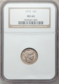 Barber Dimes: , 1915 10C MS64 NGC. NGC Census: (95/51). PCGS Population (113/58).Mintage: 5,620,450. Numismedia Wsl. Price for problem fre...