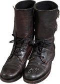 "Movie/TV Memorabilia:Costumes, A Katy Perry Pair of Signed Boots Worn on ""American Idol.""..."