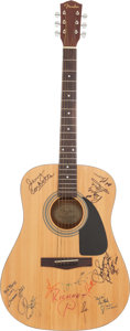Music Memorabilia:Autographs and Signed Items, Ricochet Band and Other Artists Signed Fender Acoustic Guitar(Memphis, 1995)....