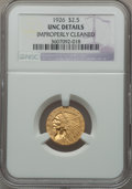 Indian Quarter Eagles: , 1926 $2 1/2 -- Improperly Cleaned -- NGC Details. UNC. NGC Census:(207/16619). PCGS Population (202/10675). Mintage: 446,0...