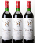 Red Bordeaux, Chateau Clerc Milon 1986 . Pauillac. 1bn, 2ts. Bottle (3).... (Total: 3 Btls. )