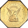 Territorial Gold, 1852 $50 RE Humbert Fifty Dollar, 887 Thous. AU58 PCGS. K-11, R.5....