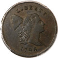 Half Cents, 1796 1/2 C With Pole XF40 PCGS Secure. CAC. C-2, B-2, High R.4....