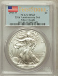 Modern Bullion Coins, 2011-S $1 Silver Eagle, 25th Anniversary Set, First Strike MS69PCGS. PCGS Population (7071/8147). NGC Census: (7279/18278)...