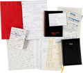 Music Memorabilia:Documents, The Who- John Entwistle's Handwritten Notebooks, Postcard to his Mother, Receipts, and other Personal Memorabilia. ... (Total: 15 Items)