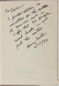 Books:Literature 1900-up, Henry Miller. SIGNED/INSCRIBED. Tropico de Capricornio.Editorial Azteca, 1961. Signed and inscribed on FFEP. Pu...