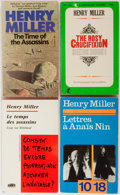 Books:Literature 1900-up, Henry Miller. SIGNED/INSCRIBED. Group of Four. Various Publishers.Each book signed and inscribed. Paperbacks in origina... (Total: 4Items)