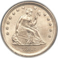 Seated Quarters, 1868-S 25C MS64 PCGS. CAC....