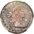 Early Half Dimes, 1796/5 H10C MS63 PCGS. V-2, LM-2, R.6....
