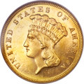 Three Dollar Gold Pieces, 1885 $3 MS65 Prooflike NGC....
