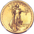 High Relief Double Eagles, 1907 $20 High Relief, Flat Rim MS61 NGC....