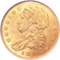 Early Half Eagles, 1811 $5 Small 5 MS63 NGC. CAC. BD-2, R.3....