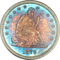 Seated Quarters, 1879 25C MS68 PCGS. CAC....